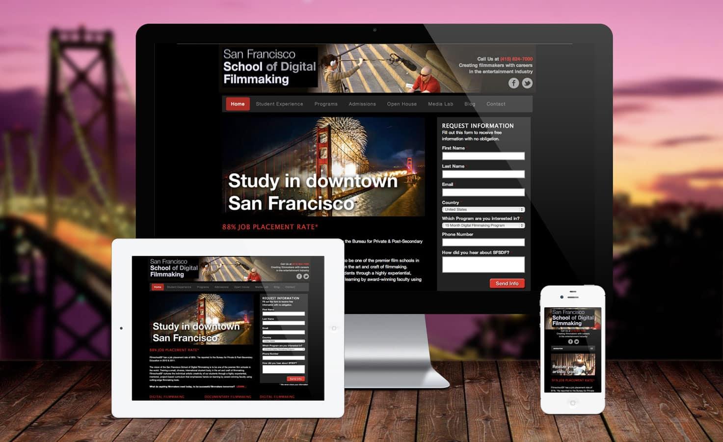FilmschoolSF Responsive Homepage Design