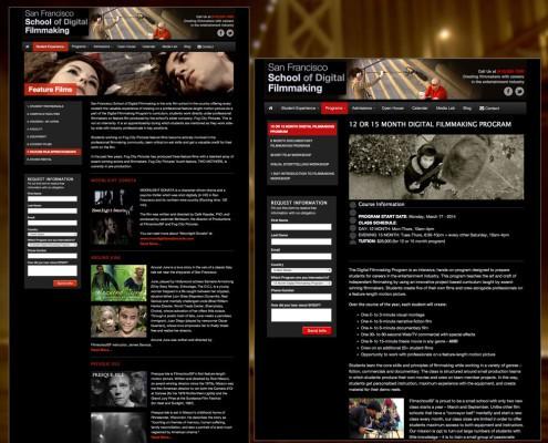 San Francisco School of Digital Filmmaking Website