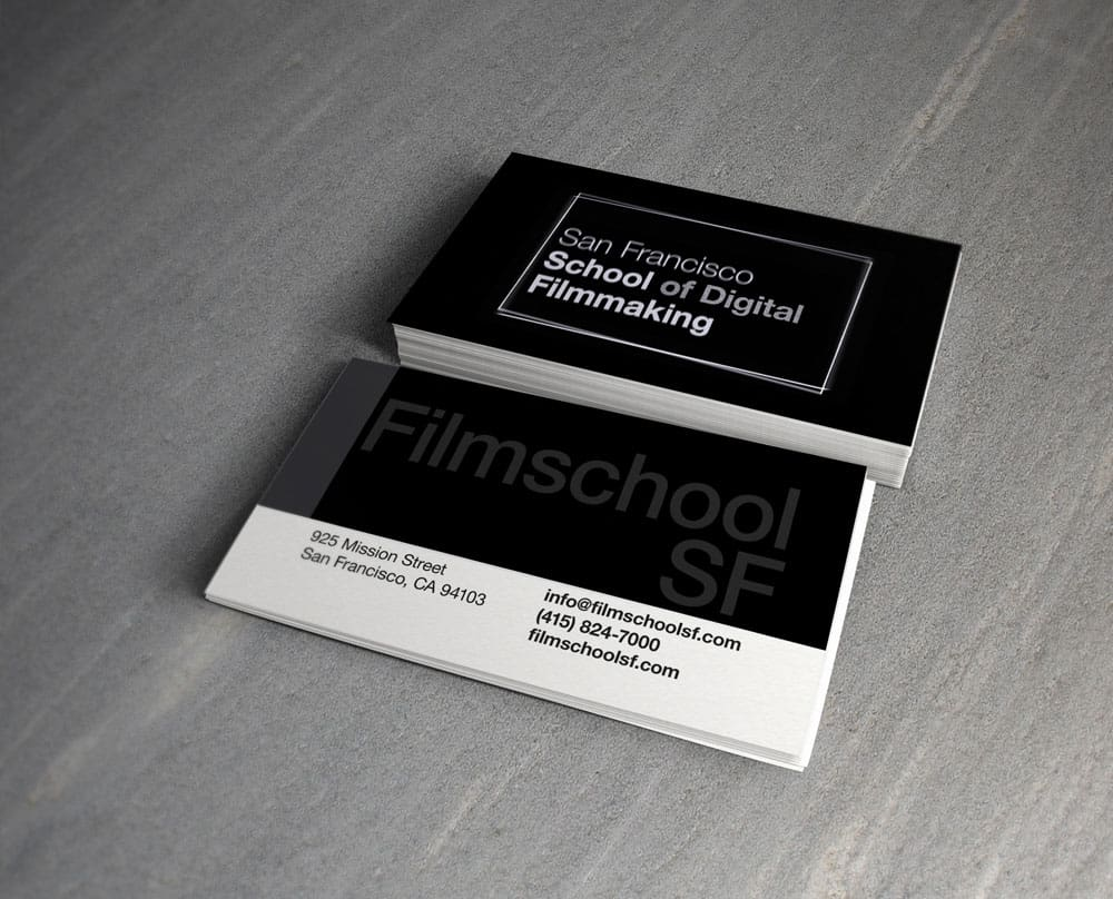 San Francisco School of Digital Filmmaking Business Cards