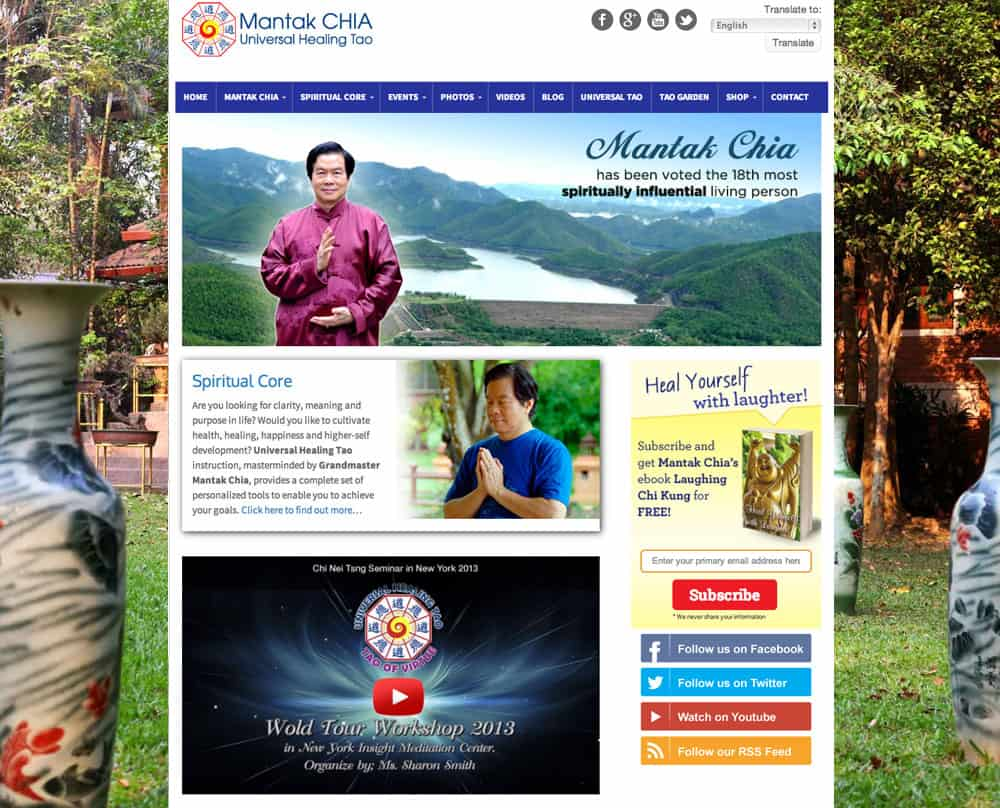 Mantak Chia Homepage Design